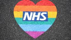 NHS in a rainbow heart