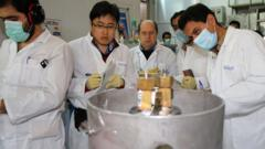 Scinetists at Natanz nuclear facility (file photo)