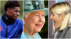 Marcus Rashford, the Queen, Holly Willoughby,