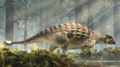 Ankylosaurus Standing in a Forest
