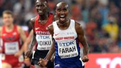 Mo Farah wins the Men's 5000m Final during day eight of the IAAF World Championships at the Beijing National Stadium, China.