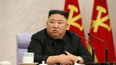 North Korean leader Kim Jong-un in Pyongyang, North Korea, 10 February 2021