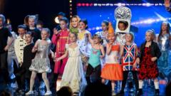 Flakefleet primary school on stage in costume