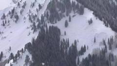Image shows the scene of the avalanche in Utah