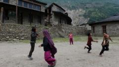 Children playing in Nepal