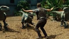 Jurassic World film scene