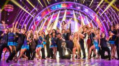 All the Strictly Come Dancing celebs and dancers on the dancefloor together