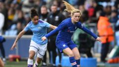 female-football players.