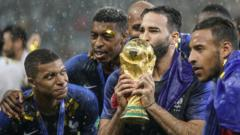 France Team holding the World Cup Trophy