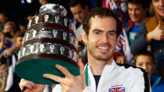Andy Murray Davis Cup trophy
