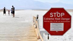 Heat warning in Death Valley