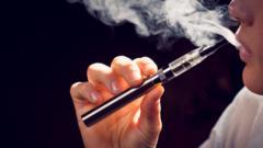 a person using an e-cigarette.