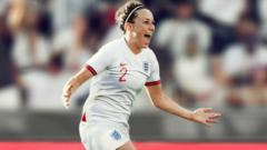 Showing off the England Women's football kit