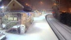 Snow blanketed the Blue Mountains in New South Wales