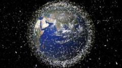 Space debris could cause crashes in space