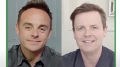 Ant and Dec speaking at the assembly