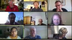 People on Zoom meeting