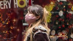Woman in Leeds during lockdown