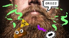 a dirty beard.