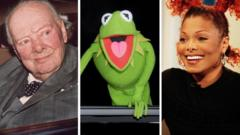 Winston Churchill, Kermit The Frog and Janet Jackson