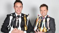 Ant and Dec with Brit Awards
