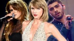Selena Gomez, Taylor Swift and Zayn Malik