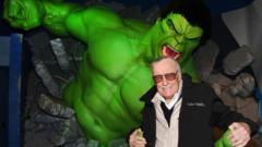Stan Lee with the Hulk