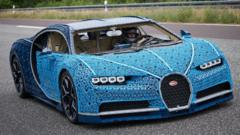 Bugatti Chiron made out of Lego