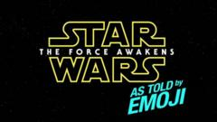 The new 'Star Wars: the Force Awakens' retold in emoji