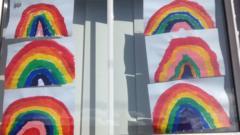 Window with rainbows