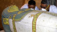 An ancient mummy