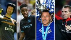 Petr Cech, Raheem Sterling, John Terry, Brendan Rodgers