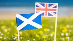 The Scottish and the UK flag side by side