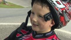 boy in BMX helmet