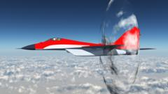 Computer generated picture of a supersonic aircraft
