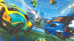 Rocket League cars graphic