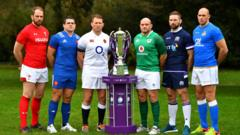 The men's six nations captains