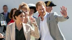 Prince Harry, Duke of Sussex and Meghan, Duchess of Sussex visit Edes House during an official visit to Sussex on October 3, 2018 in Chichester, United Kingdom.