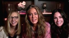 Lisa Kudrow, Jennifer Aniston and Courtney Cox