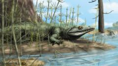 The reptile lived near lakes and rivers, feeding on smaller reptiles