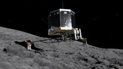 Rosetta spacecraft landing on the comet