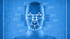 Stock image of facial recognition