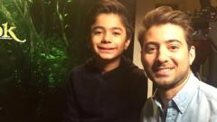 Ricky with Jungle Book star Neel Sethi