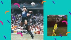 Maradona hand of god goal recreated