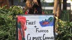climate change protestors in New Delhi