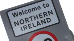 Sign at the Irish border.