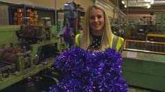 How is Christmas tinsel made?