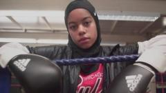Aida in the boxing ring