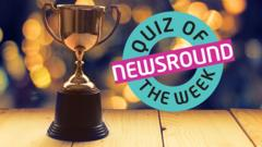 a trophy next to the quiz of the week logo.