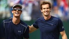 Jamie and Andy Murray celebrate